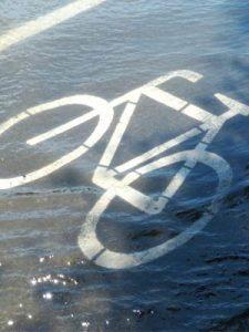 fietspad overstroming