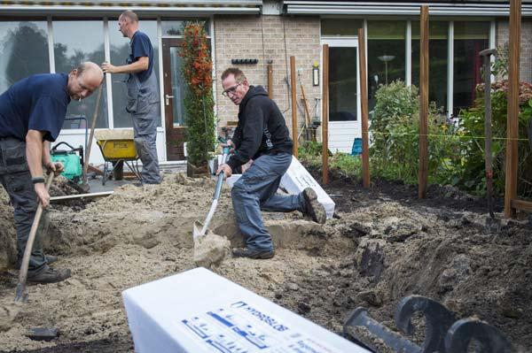 Rob Verlinden en zijn team gebruiken vaak Hydroblob om een tuin waterklaar te maken.