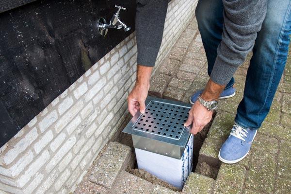 Hydroblob ip infiltratieput de afvoerput zonder leidingwerk